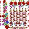57a07d28f6 Használt. 1500 Ft. alkupiac.hu. Kalocsai mintás matrica ,minden szinre
